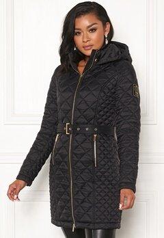 Chiara Forthi Sarraceno Quilted Fur Jacket Black Bubbleroom.eu