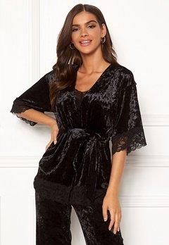 Chiara Forthi Sentiera Lace Kimono Black Bubbleroom.eu