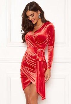 Chiara Forthi Snapshot Drape Dress Red Bubbleroom.eu