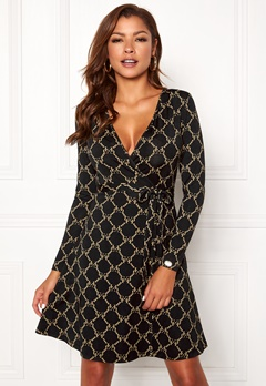 Chiara Forthi Sonnet Mini Wrap Dress Black Bubbleroom.eu