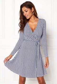 Chiara Forthi Sonnet Mini Wrap Dress Blue / White Bubbleroom.eu