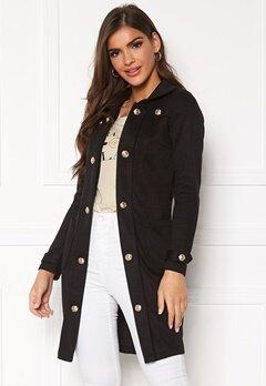 Chiara Forthi Sottovalle Jersey Coat Black Bubbleroom.eu
