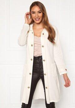 Chiara Forthi Sottovalle Jersey Coat Offwhite Bubbleroom.eu