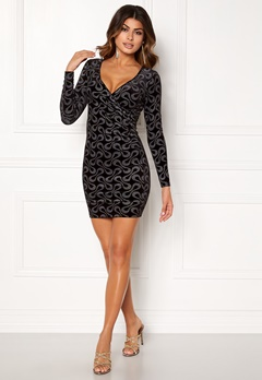 Chiara Forthi Sprinkle Velvet Dress Black Bubbleroom.eu