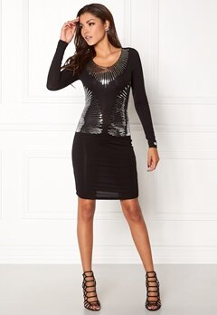 Chiara Forthi Spumante dress Black / Silver Bubbleroom.eu