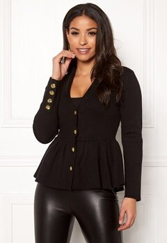 Chiara Forthi Stefania Knit Jacket Black Bubbleroom.eu