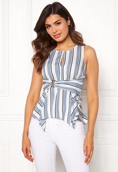 Chiara Forthi Suzette Wrap Top Striped / Offwhite / Blue Bubbleroom.eu