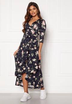 Chiara Forthi Tara 3/4 Sleeve Highlow Dress Dark navy / Floral Bubbleroom.eu