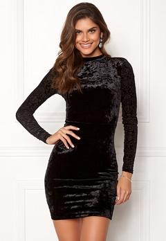 Chiara Forthi Theresa velvet dress Black Bubbleroom.eu