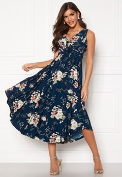 Chiara Forthi Valeria Dress Navy / Floral Bubbleroom.eu
