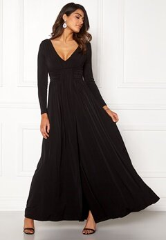 Chiara Forthi Vanessa L/S Gown Black Bubbleroom.eu