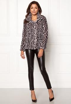 Chiara Forthi Venezia Faux Fur Jacket Leopard Bubbleroom.eu