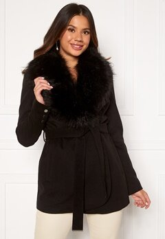 Chiara Forthi Verona Short Coat Black Bubbleroom.eu
