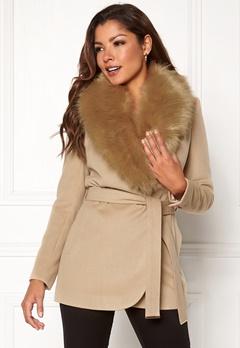 Chiara Forthi Verona Short Coat Camel Bubbleroom.eu