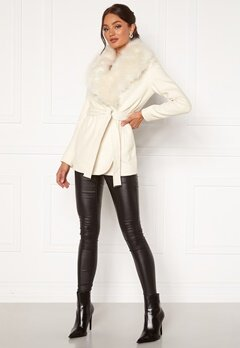 Chiara Forthi Verona Short Coat Cream Bubbleroom.eu