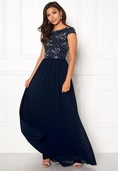 Chiara Forthi Viviere Sparkling Gown Midnight blue Bubbleroom.eu
