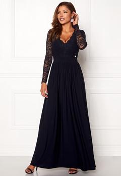 Chiara Forthi Wendolyn gown Dark blue Bubbleroom.eu