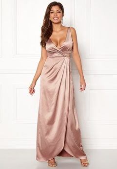 Chiara Forthi Ysabel Satin Gown Heather pink Bubbleroom.eu