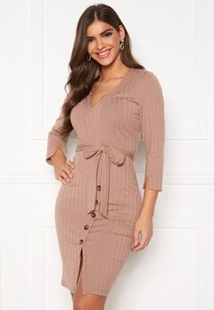 Chiara Forthi Maysie buttoned dress Dusty pink Bubbleroom.eu