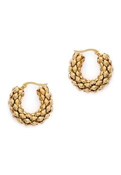WOS Coco Hoops Earrings Guld Bubbleroom.eu