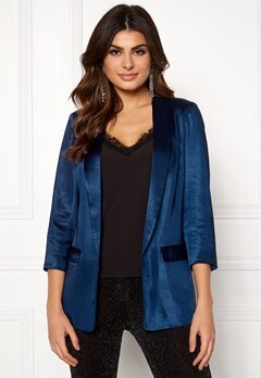 co'couture Andrea Sateen Blazer Navy Bubbleroom.eu