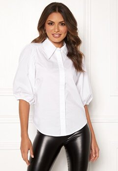 co'couture Briela Puff Sleeve Shirt White Bubbleroom.eu