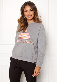 co'couture Cocouture Stripe Sweater 139 Mid Grey Bubbleroom.eu
