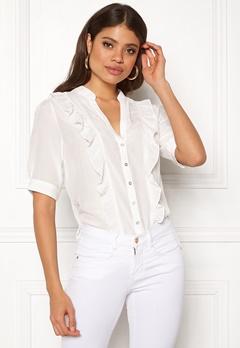 co'couture Essential Frill Shirt Off White Bubbleroom.eu