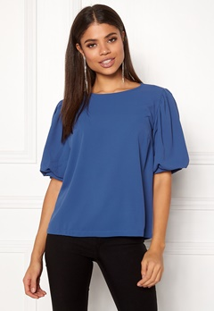 co'couture Jennifer Baloon Blouse New Blue Bubbleroom.eu