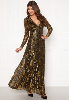 co'couture Turner Lace Dress Gold Bubbleroom.eu