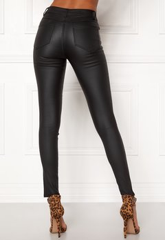 VILA Commit New Coated Jeans Black Bubbleroom.eu