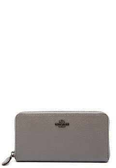 COACH Cordion Zip Around Wallet DKHGR Heather Grey Bubbleroom.eu