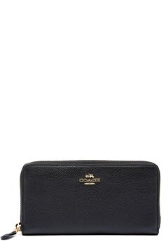 COACH Cordion Zip Around Wallet LIBLK Black Bubbleroom.eu