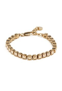 Dyrberg/Kern Cory Shadow Bracelet Shiny Gold Bubbleroom.eu