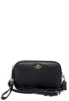 COACH Crossbody Clutch Leather LIBLK Black Bubbleroom.eu