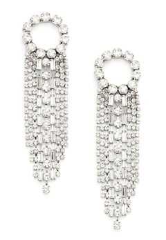 WOS Curtain Earrings Silver Bubbleroom.eu