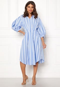 DAGMAR Chloe Dress Blue Stripe Bubbleroom.eu