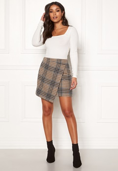 DAGMAR Darda Check Skirt Large Camel check Bubbleroom.eu