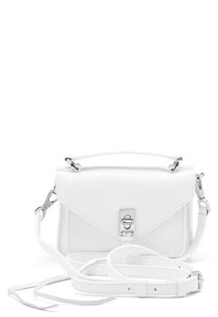 Rebecca Minkoff Darren Group Leather Bag 129 White/Silver Bubbleroom.eu