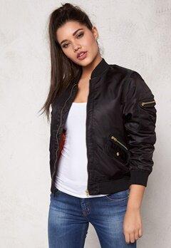 D.Brand Golden Zip Bomber Jacket Black Bubbleroom.eu