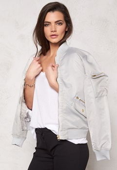 D.Brand Golden Zip Bomber Jacket Grey Bubbleroom.eu