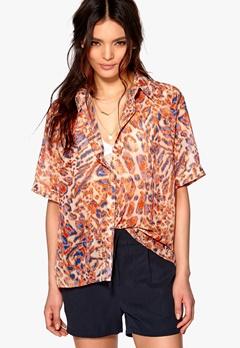D.Brand Visby Short Sleeve Shirt Leo Print Bubbleroom.eu