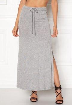 VILA Deana Maxi Skirt Light Grey Melange Bubbleroom.eu