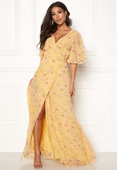 byTiMo Delicate Semi Wrap Dress 840 Yellow Poppy Bubbleroom.eu