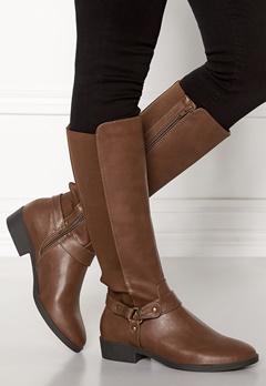New Look Diandra PU Knee High Shoes Tan Bubbleroom.eu