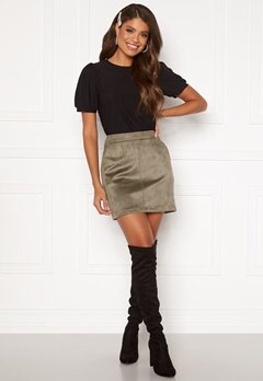 VERO MODA Donnadina Faux Suede Short Skirt Bungee Cord Bubbleroom.eu