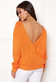 Rut & Circle Doris Back Wrap Knit Orange Bubbleroom.eu