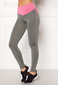Drop of Mindfulness Bow II Training Tights Grey/Pink Bubbleroom.eu