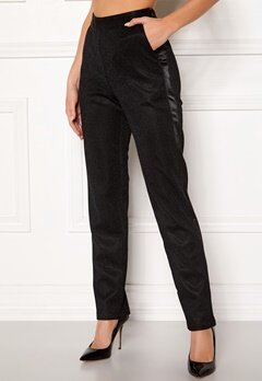 DRY LAKE Abigail Trousers 008 Black Glitter Bubbleroom.eu