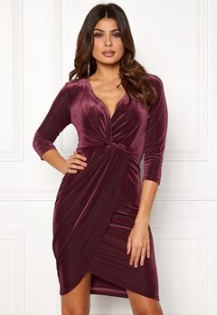 DRY LAKE Angelina Dress 608 Burgundy Bubbleroom.eu